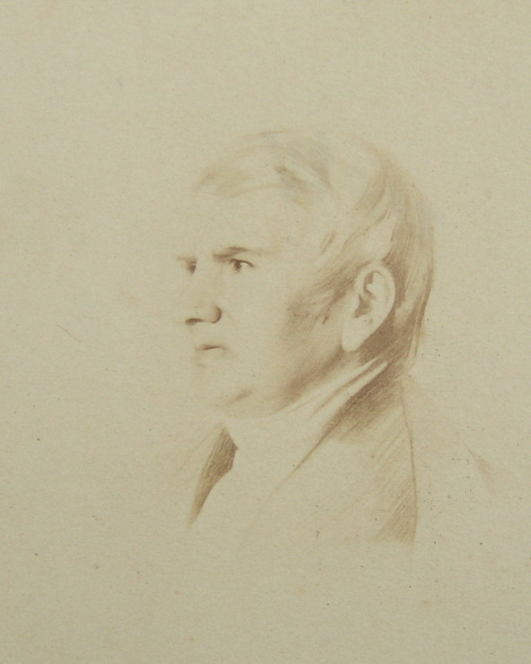 Portrait of Bernard Barton 1784-1849 The Quaker Poet of Woodbridge Suffolk