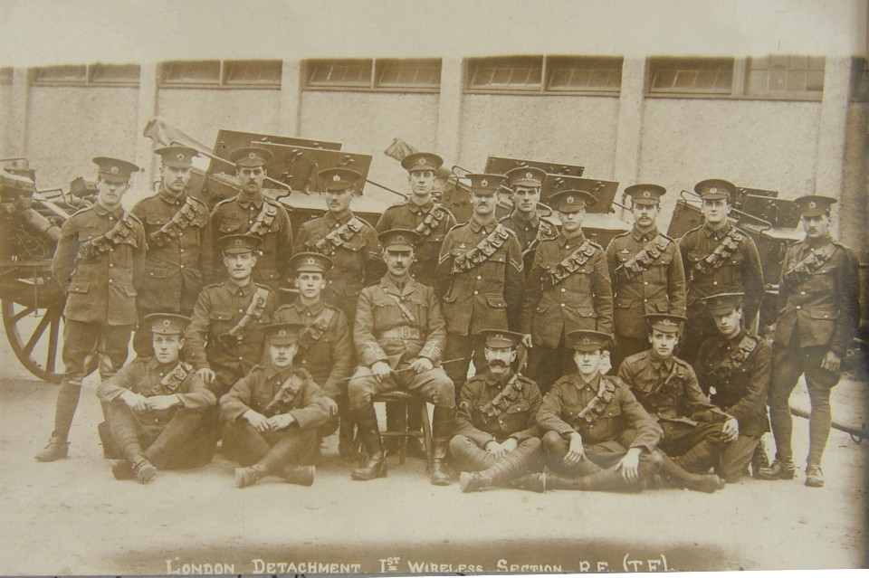 London Detachment 1st Wireless Squadron Royal Engineers Territorial Force with Leopold Alfred Tschudi Broadwood