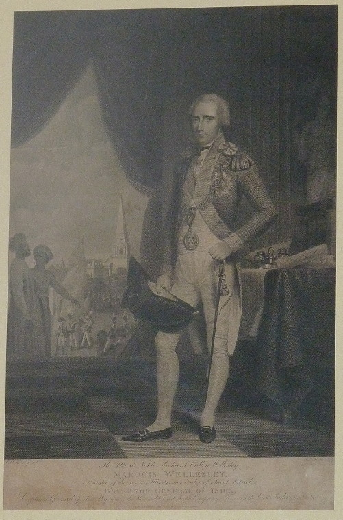 Engraved portrait Richard Colley Wellesley Marquis Wellesley Governor General of India Engraved by James Heath from the painting by Robert Home 1804