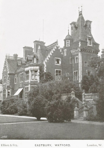Eastbury House,Watford.  Postcard by Elliott & Fry, London.  Anne and Arthur Marsh