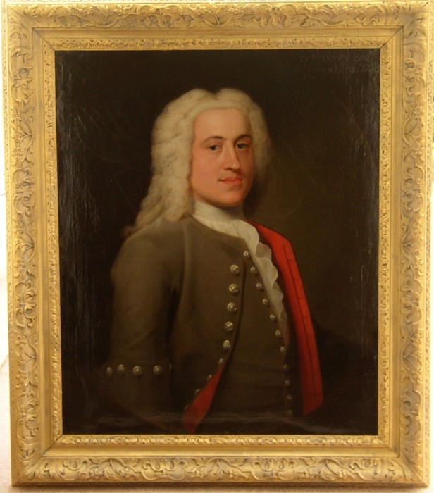Portrait of Peter Harvey 1709-1751 of  Norwich, Norfolk. Painted  in 1739 by  John Theodore Heins (1697-1756). Note on the back saying painted by Haynes.