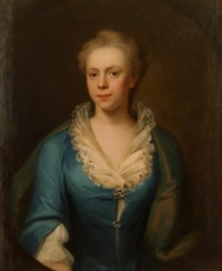 Portrait of Elizabeth Harvey nee Blyford 1718?-1741 of Norwich by John Theordore Heins