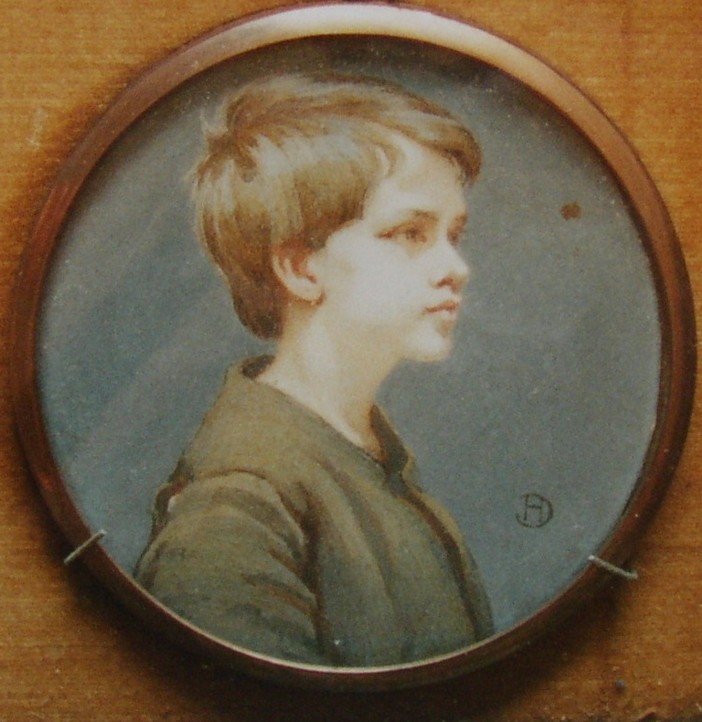 Portrait of a young boy painted by Ernest Dudley Heath Artist and Author 1867-1945