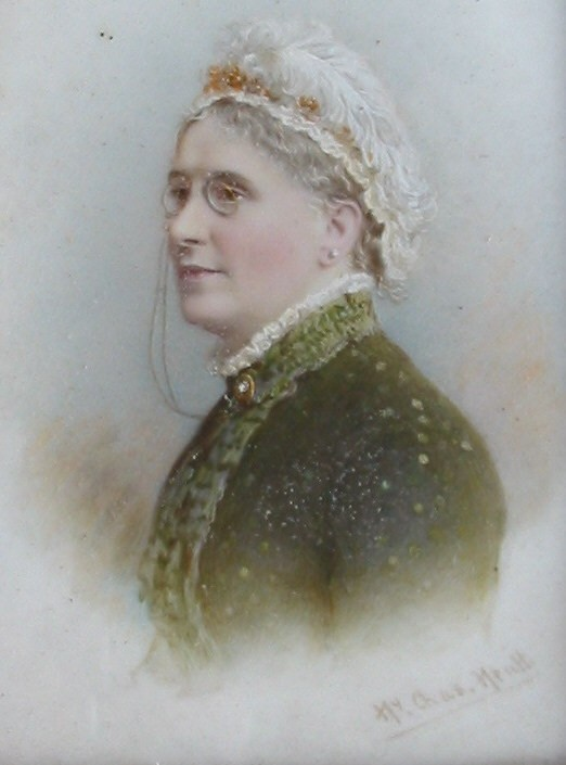 Miniature portrait of a lady by the artist Henry Charles Heath 1829-1898
