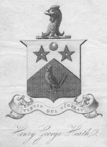 Bookplate of Henry George Heath