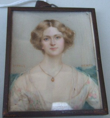 Miniature Portrait of a Lady Painted by the artist Hugh Lionel Heath (1871-1938)
