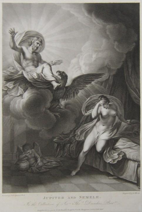 Jupiter And Semele Print of Jupiter And Semele From