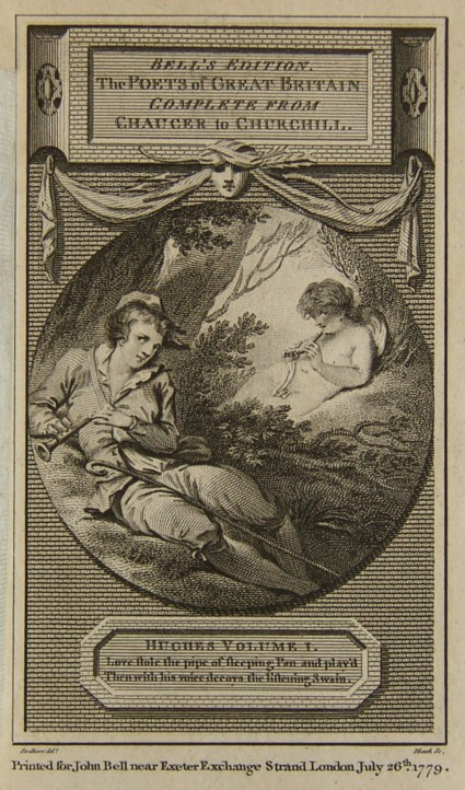 Engraving of the Piping Boy engraved by James Heath for the Poems of John Hughes dated 26 July 1779. From the drawing by Thomas Stothard.