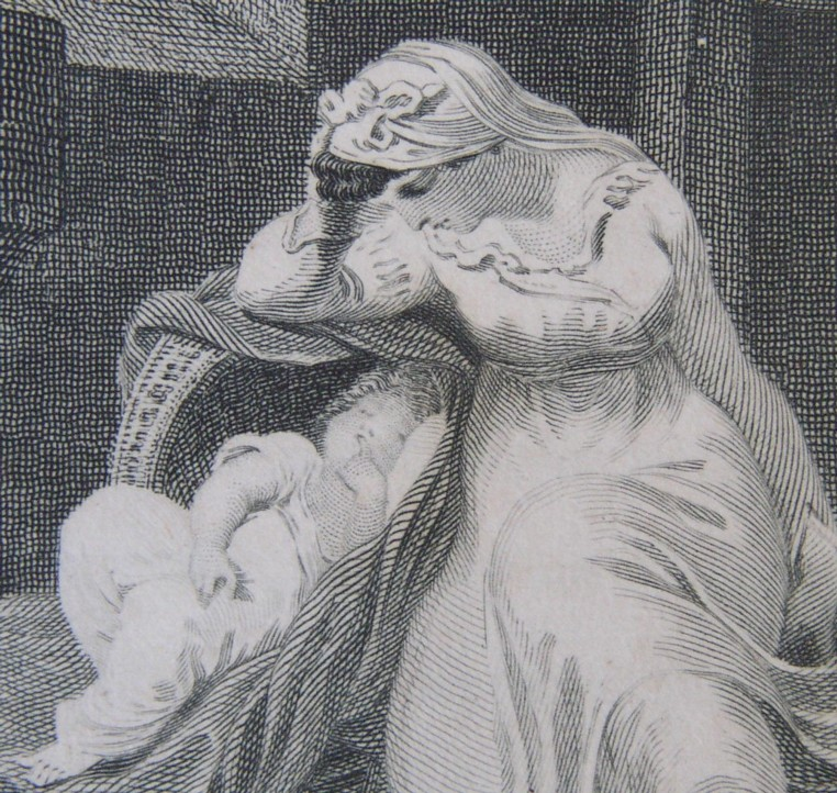 Detail of illustration from The Pleasures of Hope with Other Poems by Thomas Campbell. The fifth edition, corrected and enlarged.  Edinburgh: printed for Mundell & Son Longman & Rees and J Wright London.  1801. Illustrated by Edward Francis Burney. Engravings by James Heath, James Fittler and John Neagle.
