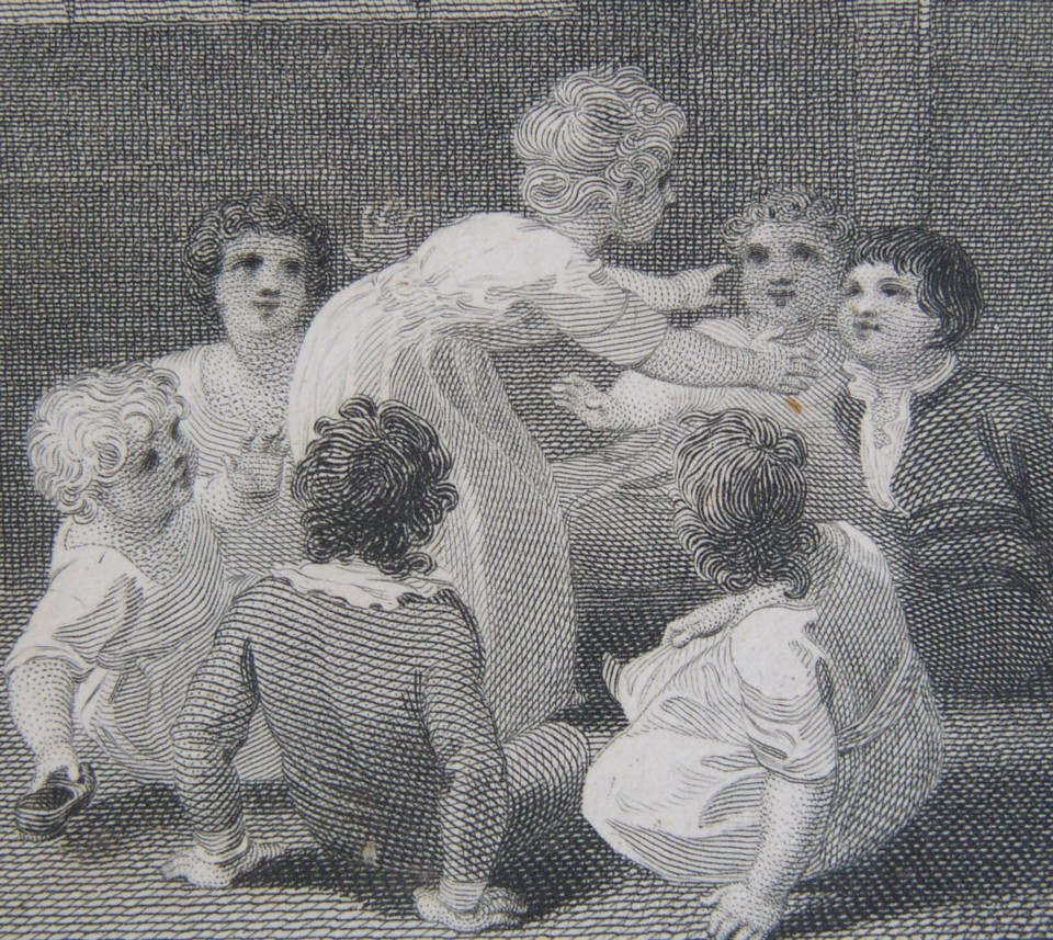 Detail from the book illustration drawn by Thomas Stothard del and engraved by James Heath sculpt