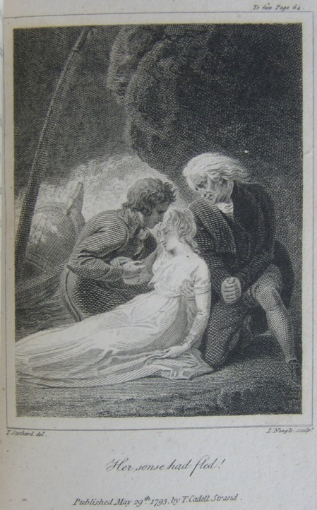 Detail from an illustration for the book Pleasures of Memory by Samuel Rogers.  Illustration drawn by Thomas Stothard del and engraved by John Neagle sculpt.