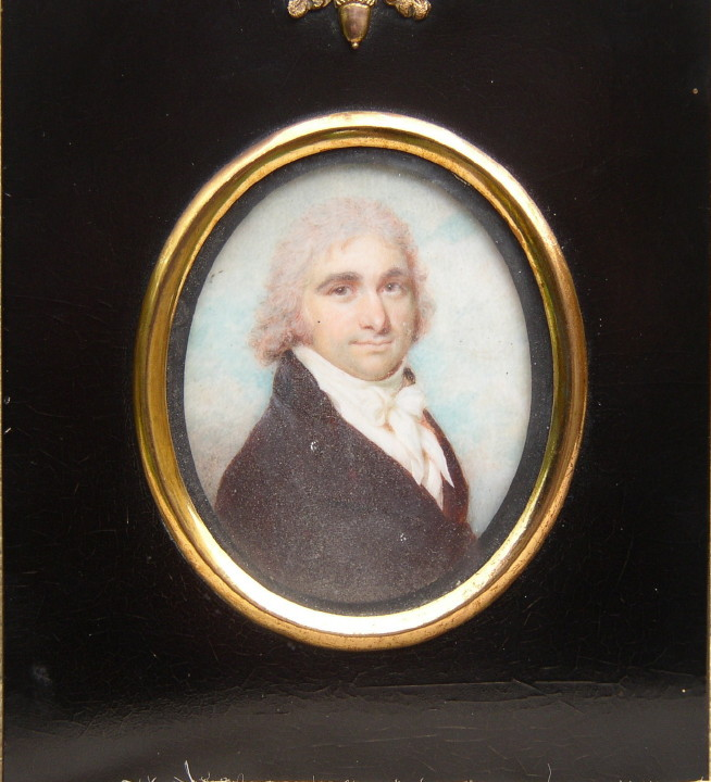 Miniature of James Heath 1757-1834 Painted around 1780  by Henry Jacob Burch