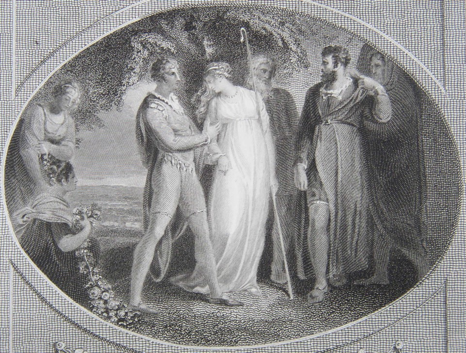 Detailf of the Engraving of Winter's Tale from Shakespeare Painted by the artist W Hamilton RA, Engraved by James Heath Engraver 1805