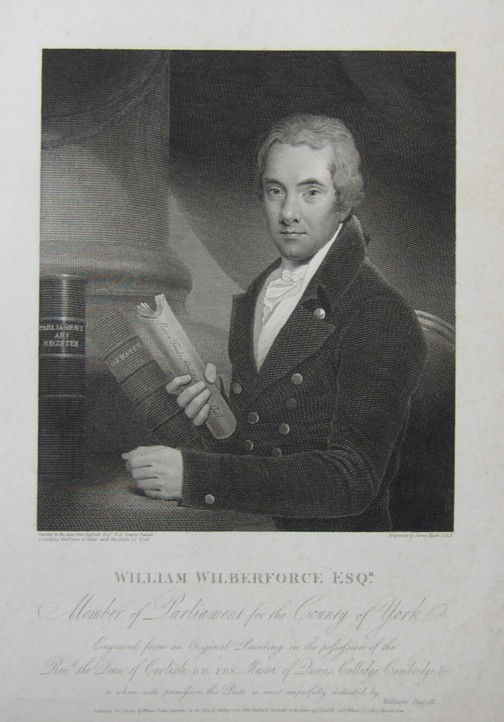 Portrait of William Wilberforce engraved by James Heath ARA from the painting by the artist painter John Russell RA