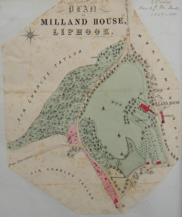 Plan of Milland House, near Liphook, Hampshre.