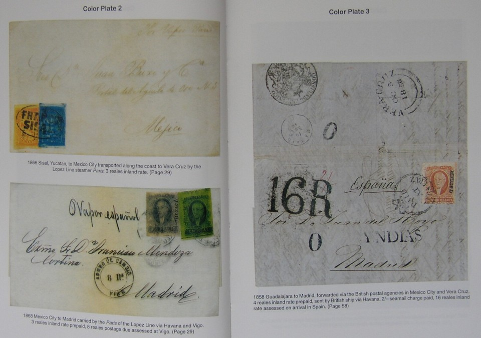 Image of a Page from the book Mexican Maritime Mail A Postal History from Colonial Times to the 20th Century Karl H Schimmer and John Heath, Published by James Bendon Ltd, 1997