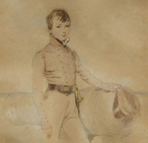 Portrait of Leopold George Heath Presumably as a Midshipman in the early 1830s 1817-1907 sailor navy