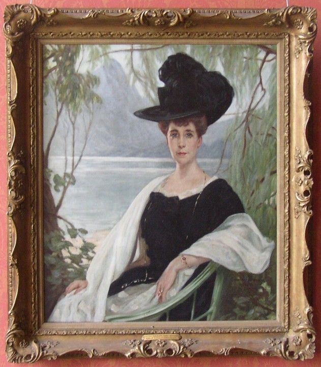 Portrait of Sarah Caroline Gore Heath nee Gambia 1859-1944 Of Anstie Grange, Holmwood, Surrey