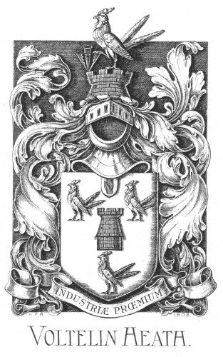 Bookplate of Voltelin Heath
