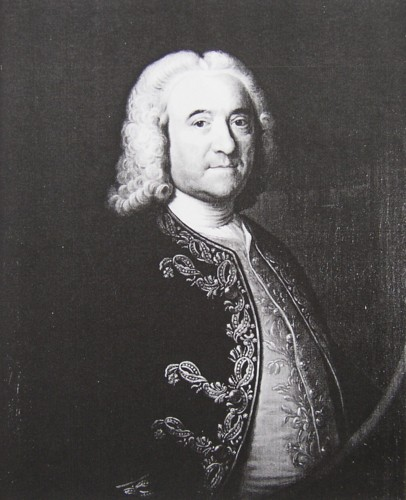 Portrait of Gerard Hartopp Governor of Plymouth Painted in 1752 by the artist John Theodore Heins 1697-1756 of Norwich Norfolk painter