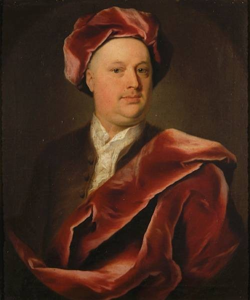 Portrait of John Howes of Morningthorpe, Norfolk.  Painted by John Theodore (Dietrich) Heins (1697-1756). Artist Painter.