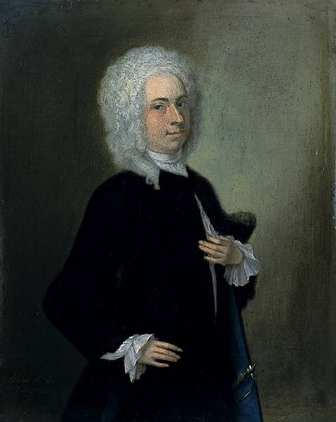Self portrait of the artist John Theodore Heins 1697 -1756 painted in 1726 painter Norwich Norfolk