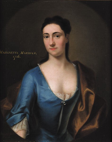 Portrait of Margretta Marsham painted in 1726 by the artist  John Theodore Heins of Norwich, Norfolk
