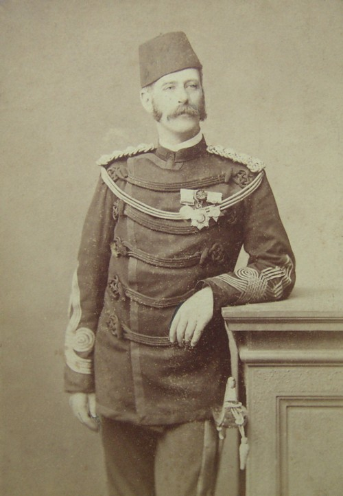 Portrait of Col Henry Helsham Helsham-Jones RE 1836-1920 of Holmwood Surrey Photograph taken in Cairo Egypt Royal Engineers Army