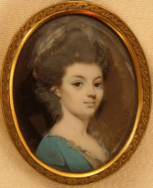 Miniature Portrait of Jane Figgins who married the actor John Henderson 1747-1785
