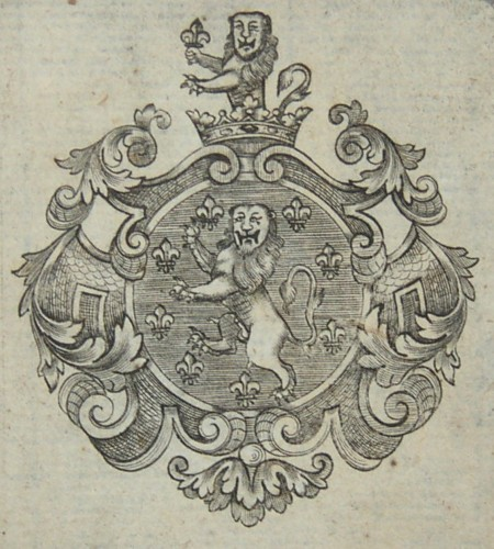 Bookplate of a member of the Holland family
