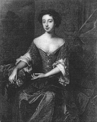 Portrait of Princess Mary eldest daughter of James II, by Wissing. This portrait was at Stowe until 1848, then at Linley Wood until 1949 when it was sold at Sotheby's.