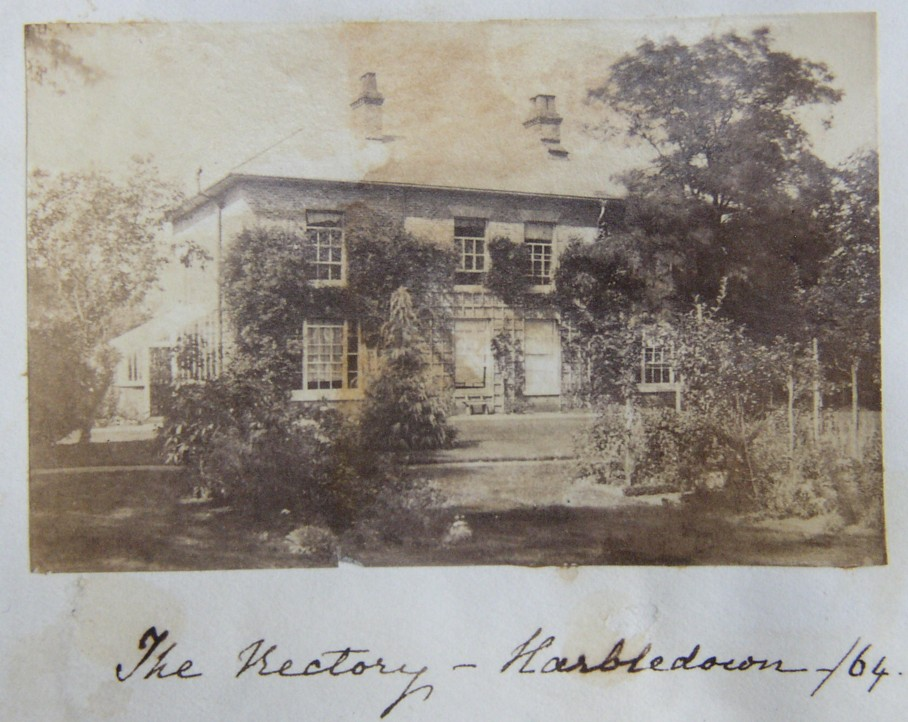 The Rectory Harbledown Canterbury 1864 The home of the Rev Alfred Lyall