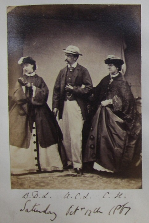 Photograph portrait of Barbara Dorothea Webb nee Lyall (1845-1897) Sir Alfred Comyn Lyall (1835-1911) and C.H.