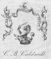 Bookplate of C B Caldwell