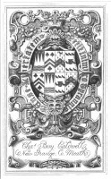 Bookplate of Charles BenjaminCaldwell