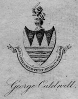 Bookplate of George Caldwell