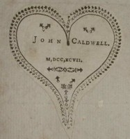 Bookplate of John Caldwell