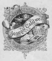 Bookplate of Joseph Caldwell