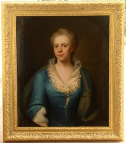 Portrait of Elizabeth Harvey nee Blyford 1718-1741 painted by the artist John Theodore Heins Heine 1697-1756 painter of Norwich Norfolk