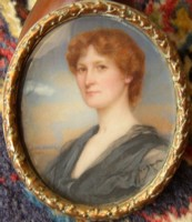 Miniature portrait of Margaret Forsyth 1879-1939 painted by Lionel Heath