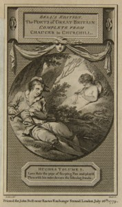 Engraving of the Piping Boy engraved by James Heath from the drawing by Thomas Stothard.