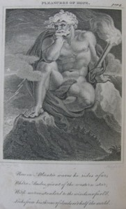 Illustration by Edward Francis Burney from The Pleasures of Hope. Engraved by John Neagle 1800.
