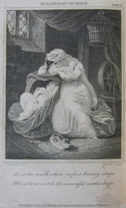 Illustration by Edward Francis Burney from The Pleasures of Hope. Engraved by James Heath 1800.