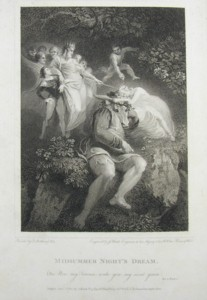 Engraving of Midsummer Night's Dream Painted by Thomas Stothard RA, Engraved by James Heath.