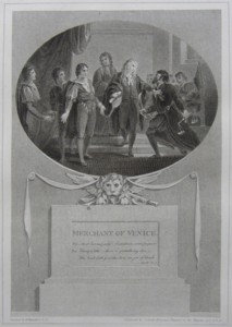 Merchant of Venice Painted by Thomas Stothard RA, Engraved by James Heath Engraver to his Majesty and his RH the Prince of Wales.