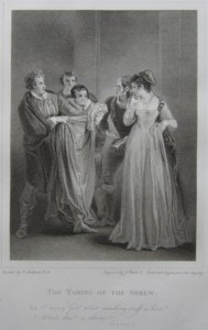 Engraving of The Taming of the Shrew Painted by Thomas Stothard RA, Engraved by James Heath ARA Engraver