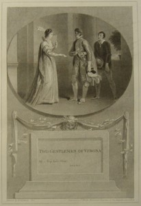 Two Gentlemen of Verona Painted by Thomas Stothard RA, Engraved by James Heath Engraver to his Majesty and his RH the Prince of Wales.