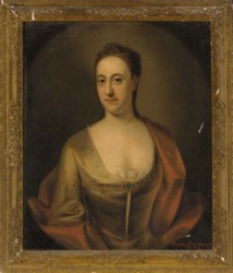 Portrait of Dorothy Branthwayt painted by the artist John Theodore Heins Heine 1697-1756 painter of Norwich Norfolk