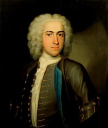 Portrait of John Gainsborough painted by the artist John Theodore Heins Heine 1697-1756 painter of Norwich Norfolk