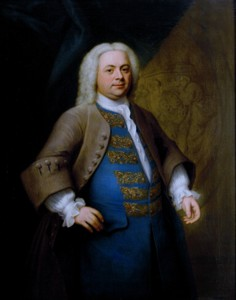 Portrait of G F Handel painted in 1740 by the artist John Theodore Heins Heine 1697-1756 painter of Norwich Norfolk painting